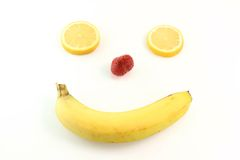 Happy fruit face Royalty Free Stock Photo