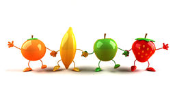 Happy fruits Royalty Free Stock Images