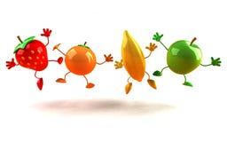 Happy fruits Stock Image