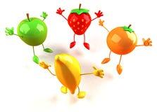 Happy fruits Royalty Free Stock Photo