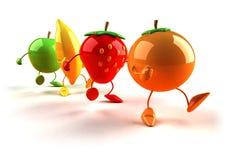 Happy fruits Royalty Free Stock Photography