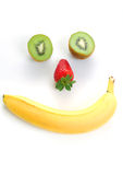 Happy fruits Royalty Free Stock Photos