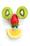 Happy fruits Stock Images