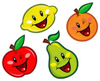 Happy Fruits Characters Stock Image