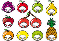 Happy fruits faces,  Stock Photography