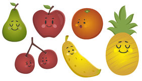 Happy Fruits Set Royalty Free Stock Photos