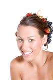 Happy fruity girl Royalty Free Stock Photos