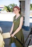 Happy with Fuel Efficiency Stock Photo