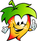 Happy Fuit Vegetable Food Mascot Stock Image