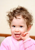 Happy fun baby portrait Royalty Free Stock Photography