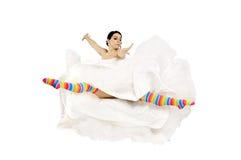 Happy fun bride royalty free stock image
