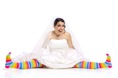 Happy fun bride Stock Photo