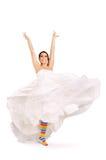Happy fun bride royalty free stock photo