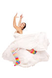Happy fun bride stock photography