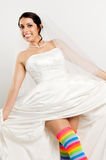 Happy fun bride Stock Photos