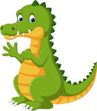 Happy fun crocodile cartoon. Happy fun cute crocodile cartoon vector illustration