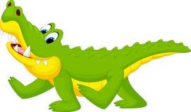 Happy fun crocodile cartoon. Illustration of Happy fun crocodile cartoon Stock Photo