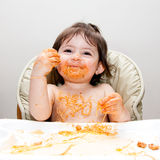 Happy fun messy eater Royalty Free Stock Photography