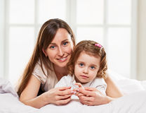Happy fun mother and daughter Stock Photo