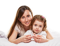 Happy fun mother and daughter Royalty Free Stock Photography