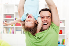 Happy and fun time with father Stock Photography