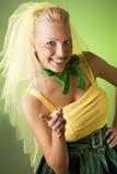 Happy funny bride Stock Photography