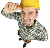 Happy funny handyman Royalty Free Stock Photos