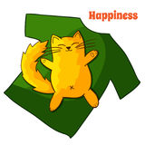 Happy funny Lazy Cartoon Cat Royalty Free Stock Photo