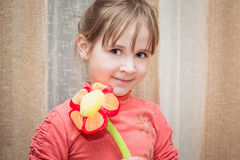 Happy funny little girl Royalty Free Stock Image