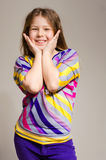 Happy funny little girl smiling Royalty Free Stock Photo