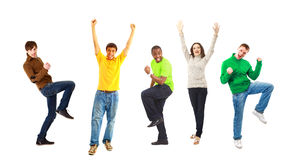 Happy funny people Stock Photography