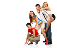 Happy funny people. Royalty Free Stock Photo