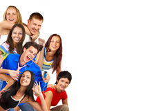 Happy funny people. Royalty Free Stock Photos