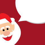 Happy funny santa claus announcing christmas sale -  vector grap Stock Photography
