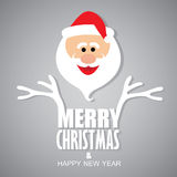 Happy Funny Santa Claus Greeting Merry Christmas & Happy New Ye Royalty Free Stock Images