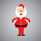 Happy and funny santa claus standing with hands on hips - vector Royalty Free Stock Images