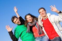 Happy funny team Royalty Free Stock Photos