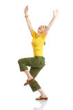 Happy funny woman stock image