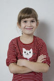 Happy funny young girl. Royalty Free Stock Photo