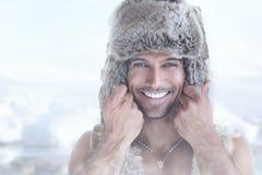 Happy fur man Stock Photo