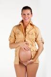 Happy future mum Stock Photos