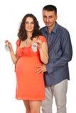 Happy future parents Stock Photo
