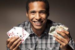 Happy gambler Royalty Free Stock Photo