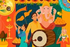 Happy Ganes Chaturthi festival celebration background Stock Photo