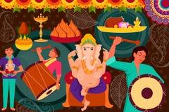 Happy Ganes Chaturthi festival celebration background Royalty Free Stock Images