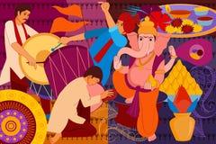 Happy Ganes Chaturthi festival celebration background Royalty Free Stock Photo
