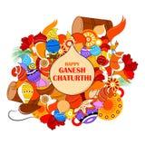 Happy Ganesh Chaturthi background Stock Images