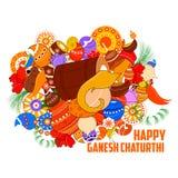 Happy Ganesh Chaturthi background Royalty Free Stock Image