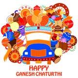 Happy Ganesh Chaturthi background Stock Image