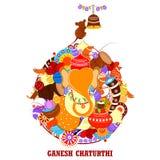 Happy Ganesh Chaturthi background Stock Photos